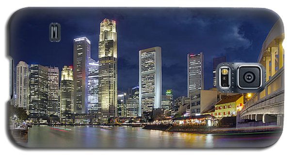 Singapore Skyline From Boat Quay Galaxy S5 Case