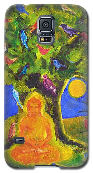 Buddha And The Birds Galaxy S5 Case