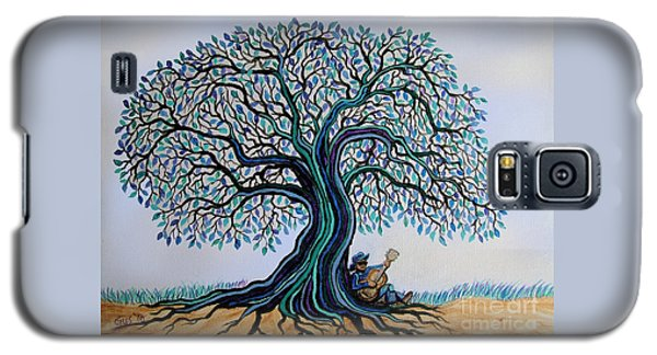 Singing Under The Blues Tree Galaxy S5 Case by Nick Gustafson