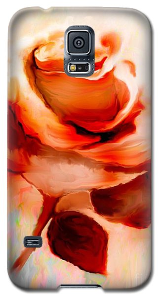 Single Rose Painting Galaxy S5 Case by Annie Zeno