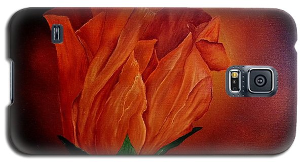 Single Rose Galaxy S5 Case by Valorie Cross