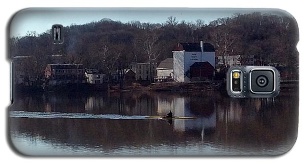 Single Scull On The Delaware Galaxy S5 Case