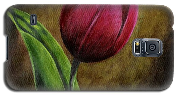 Galaxy S5 Case featuring the painting Single Tulip by Jesslyn Fraser