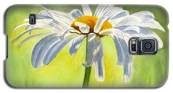 Daisy Galaxy S5 Case - Single White Daisy Blossom by Sharon Freeman