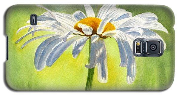 Single White Daisy Blossom Galaxy S5 Case by Sharon Freeman