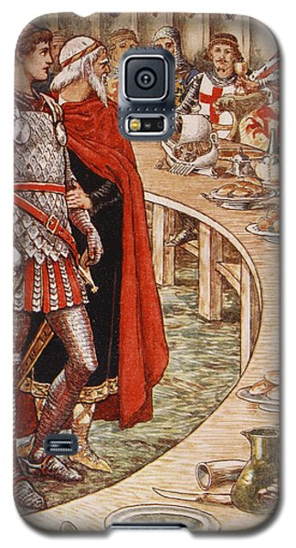 Sir Galahad Is Brought To The Court Of King Arthur Galaxy S5 Case by Walter Crane