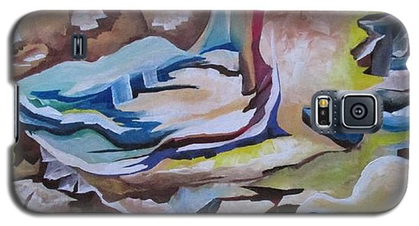 Galaxy S5 Case featuring the painting Sirens by Nereida Rodriguez