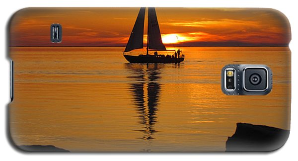 Sister Bay Sunset Sail 2 Galaxy S5 Case