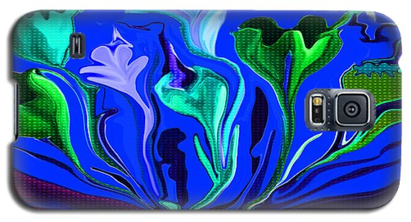 Galaxy S5 Case featuring the painting Sister Of The Red Dream I Must Be In A Dream The Flowers Are Dancing by Sherri  Of Palm Springs