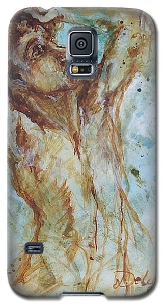 Galaxy S5 Case featuring the painting Sisyphus by Delona Seserman