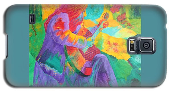 Galaxy S5 Case featuring the painting Sit'n And Pick'n by Nancy Jolley