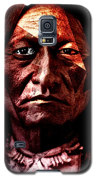 Galaxy S5 Case featuring the painting Sitting Bull - Warrior - Medicine Man by Hartmut Jager