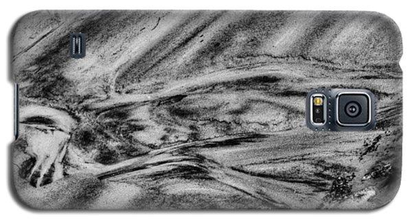 Sitting Dog In On The Sandy Beach Galaxy S5 Case