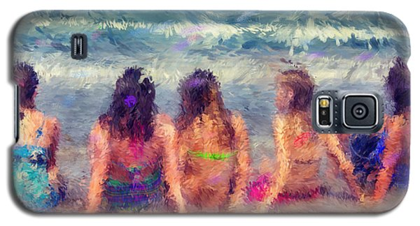 Sitting In The Surf Galaxy S5 Case by Erika Weber
