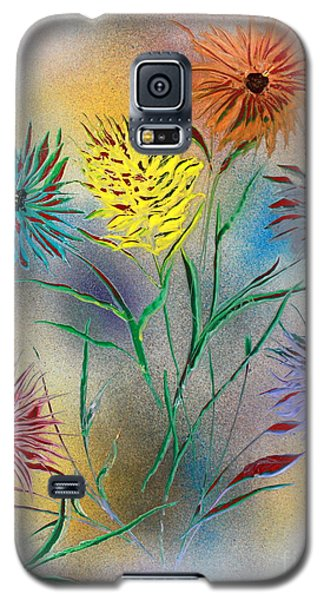 Galaxy S5 Case featuring the painting Six Flowers by Greg Moores