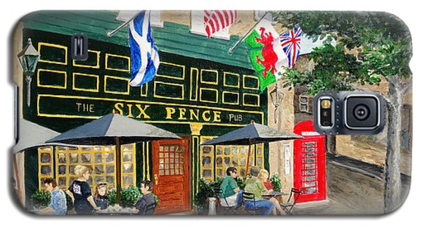 Six Pence Pub Galaxy S5 Case by Marilyn Zalatan