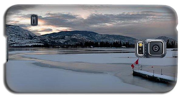 Skaha Lake Sunset Panorama 02-27-2014 Galaxy S5 Case