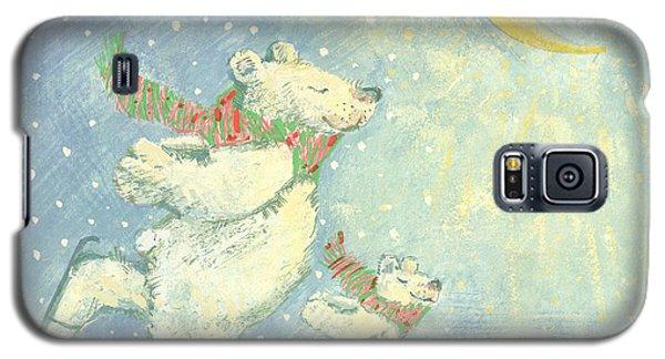 Ice Galaxy S5 Case - Skating Polar Bears by David Cooke