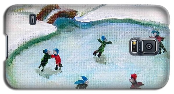 Skating Pond Galaxy S5 Case by Laurie Morgan