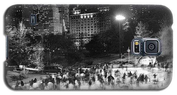 New York City - Skating Rink - Monochrome Galaxy S5 Case