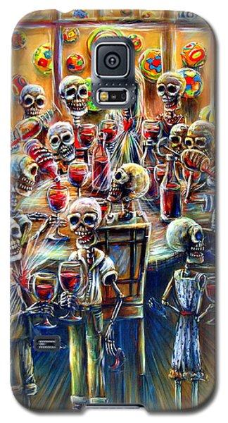 Skeleton Wine Party Galaxy S5 Case