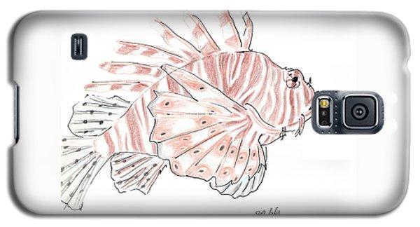 Sketch Of Lion Fish At London Aquarium Galaxy S5 Case by Jingfen Hwu