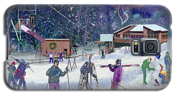 Ski Area Campton Mountain Galaxy S5 Case by Nancy Griswold