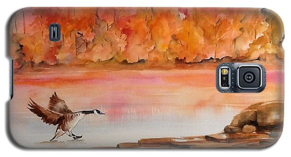Galaxy S5 Case featuring the painting Skid by Ellen Canfield