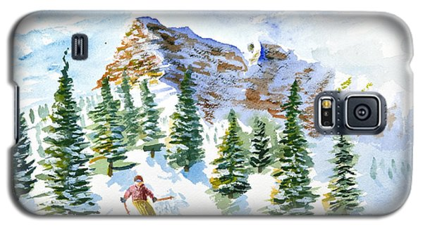 Skier In The Trees Galaxy S5 Case