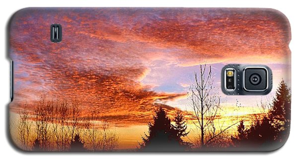 Galaxy S5 Case featuring the photograph Skies Ablaze by Sadie Reneau