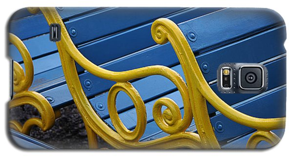 Galaxy S5 Case featuring the photograph Skc 0246 The Garden Benches by Sunil Kapadia