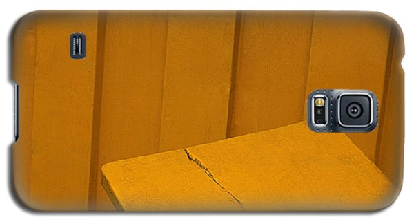 Galaxy S5 Case featuring the photograph Skc 1496 A Tea Shack Bench by Sunil Kapadia