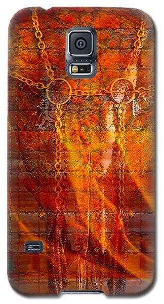 Skull On Fire Galaxy S5 Case by Mayhem Mediums