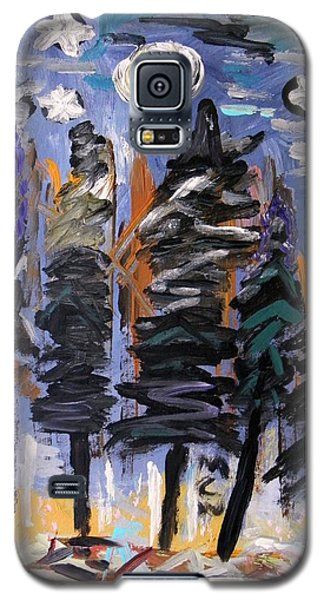 Galaxy S5 Case featuring the painting Sky Above The Forest by Mary Carol Williams