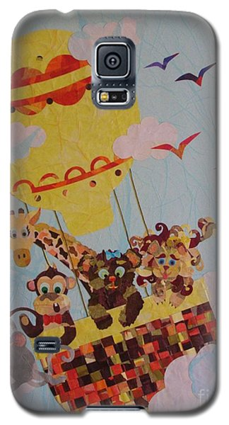 Galaxy S5 Case featuring the mixed media Sky Adventurers by Diane Miller