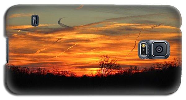 Sky At Sunset Galaxy S5 Case by Cynthia Guinn