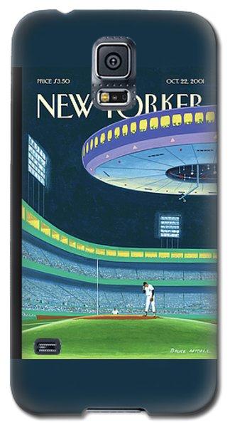 Yankee Stadium Galaxy S5 Case - Sky Box by Bruce McCall