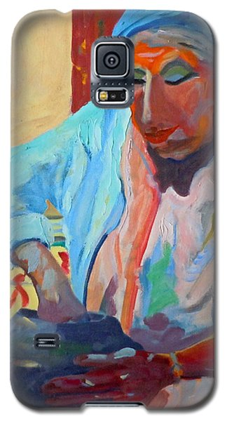Galaxy S5 Case featuring the painting Sky City - Marie by Francine Frank