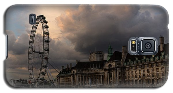 Sky Drama Around The London Eye Galaxy S5 Case