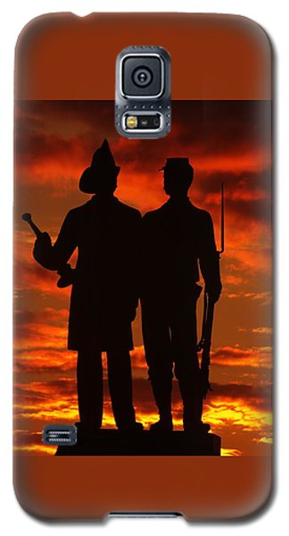 Sky Fire - 73rd Ny Infantry Fourth Excelsior Second Fire Zouaves-a1 Sunrise Autumn Gettysburg Galaxy S5 Case