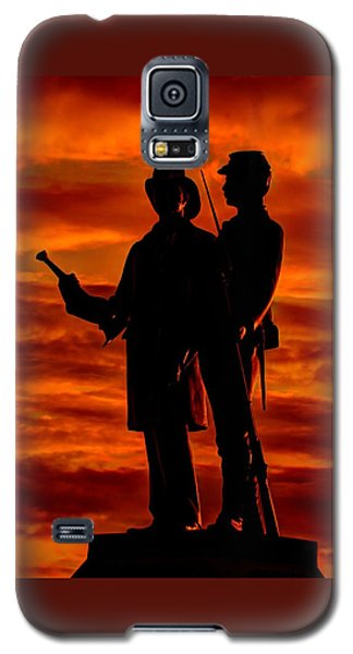 Sky Fire - 73rd Ny Infantry Fourth Excelsior Second Fire Zouaves-b1 Sunrise Autumn Gettysburg Galaxy S5 Case