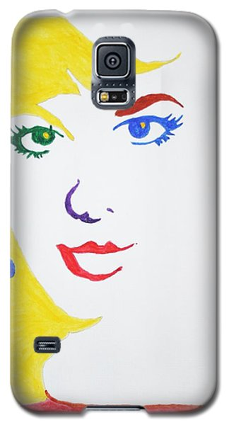 Galaxy S5 Case featuring the painting Blonde Mother Nature by Stormm Bradshaw