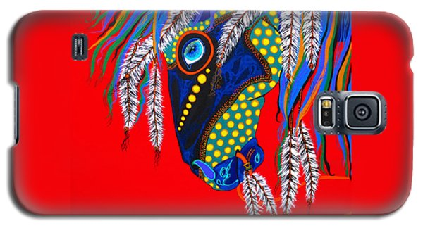 Galaxy S5 Case featuring the painting Sky Spirit by Debbie Chamberlin