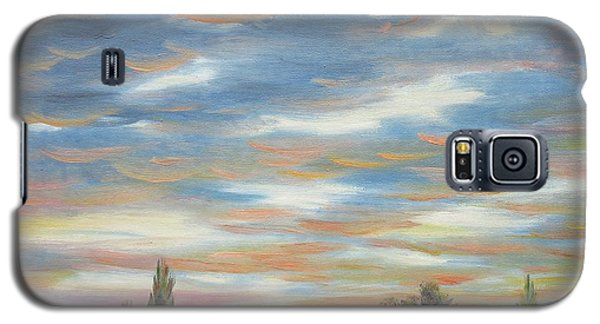 Galaxy S5 Case featuring the painting Sky by Vesna Martinjak
