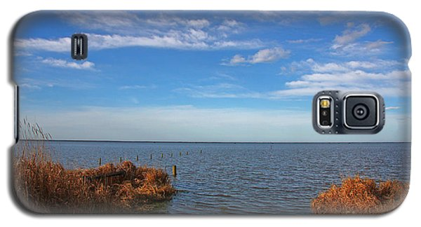 Galaxy S5 Case featuring the photograph Sky Water And Grasses by Nareeta Martin