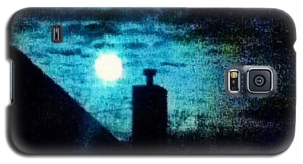 Skylines Galaxy S5 Case - Skyline With Moon by Genevieve Esson