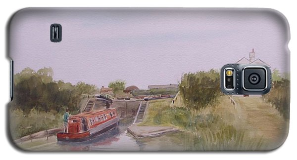 Galaxy S5 Case featuring the painting Slapton Lock by Martin Howard