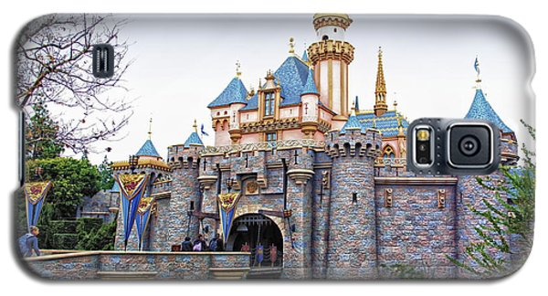 Sleeping Beauty Castle Disneyland Side View Galaxy S5 Case by Thomas Woolworth