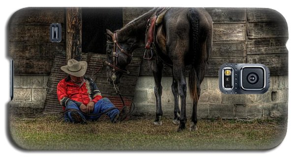 Galaxy S5 Case featuring the photograph Sleeping Cowboy by Donald Williams