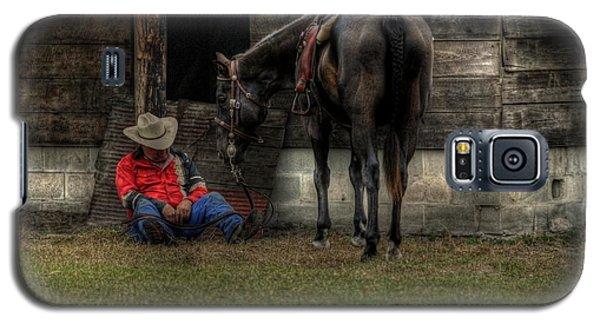Sleeping Cowboy Galaxy S5 Case by Donald Williams